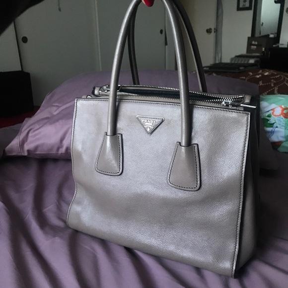 Prada Handbags - Prada Glacé calf Argilla